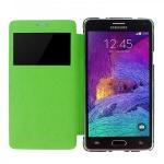 Smartcover Window Grün für Samsung Galaxy Note 4 N910 N910F Tasche Cover Hülle