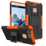 New Hybrid Case 2teilig Outdoor Orange für Huawei P9 Tasche Hülle Cover Schutz
