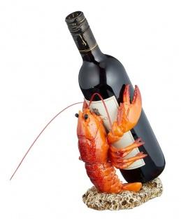 Flaschenhalter Hummer Weinflaschenhalter maritime Deko Tierfigur Flaschenständer
