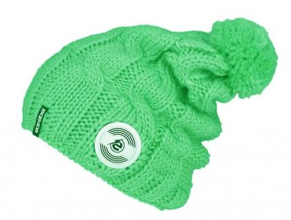 Earebel Beanie Trenza Mint - Mütze mit Bluetooth integrierte Kopfhörer Mikrofon
