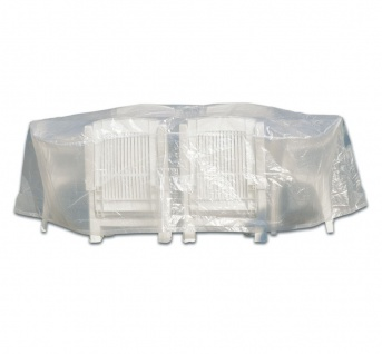 Möbelschutzhülle Schutzhülle für Sitzgruppe bis 320cm rund transparent