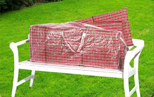 Komfort Schutzhülle für Hochlehner Auflagen 125x32x50cm Tragetasche f.Sitzkissen - Vorschau 1