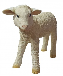 Dekofigur Lamm Lotti stehend Gartendeko Tierfigur Schaf Lämmchen 36 cm NEU