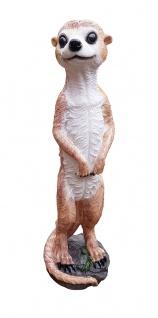 Erdmännchen Dekofigur 40 cm Skulptur Scharrtier Gartendeko Tierfigur Scharrtier