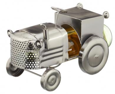 Flaschenhalter Weinflaschenhalter Traktor Trecker Metall Figur Skulptur Deko