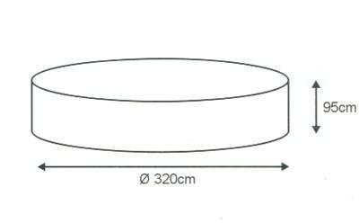 Möbel-Schutzhülle für Gartentisch Sitzgruppe Ø 320 cm , Schutzhaube, Schutzhülle - Vorschau 2