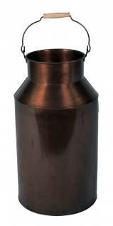 Milchkanne groß mit Henkel 57cm Deko Metallkanne Vase Schirmständer altkupfer