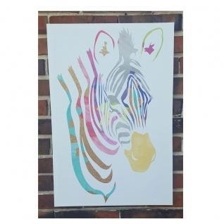 Leinwandbild XL Zebra Wandbild Wanddeko Wandbehang 60 x 40 cm Dekoration