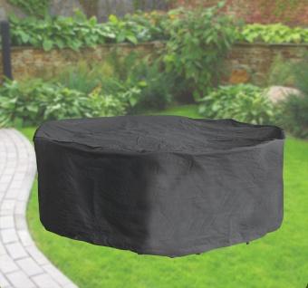 Komfort Schutzabdeckung für Sitzgruppe bis 320 cm, Schutzhülle rund, anthrazit