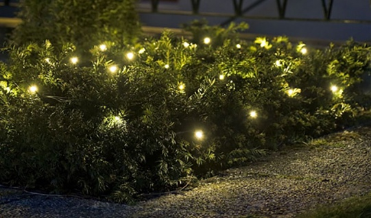 LED-Lichterkette 24 LED´s warmweiß In- &Outdoor Batteriebetrieb Timerfunktion