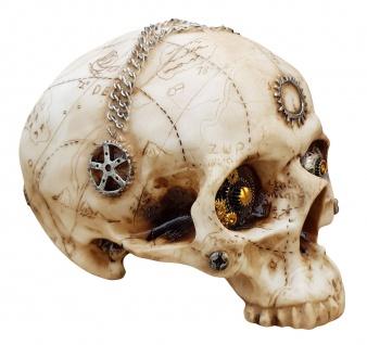 Dekofigur Totenkopf Steampunk Totenschädel Skull Gothic Mystik Fantasy Deko - Vorschau 1