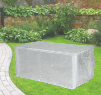 Komfort Schutzhülle für rechteckige Gartentische 180x100x75 cm transparent