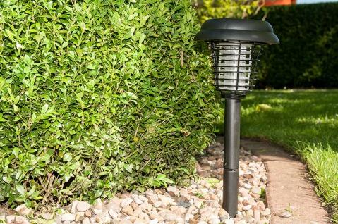 Solar Insektenfalle Elektro-Schwarzlicht, Mückenfalle, LED Lampe, Wegeleuchte