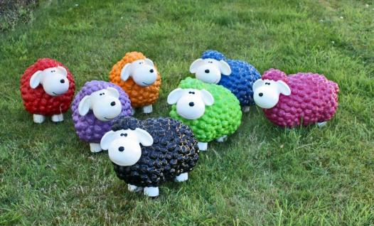 Lustige Tierdeko Schaf bunt versch. Farben auswählbar Garten Deko Tierfigur