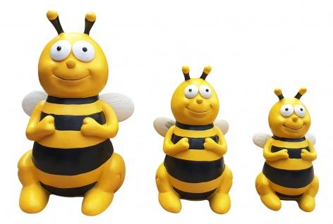 Gartenfiguren Bienen Dekofiguren 3 verschiedene Größen wählbar oder als Set