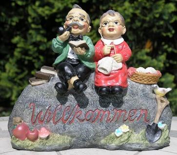 Gartendekoration Willkommensschild Opa und Oma Außendekoration
