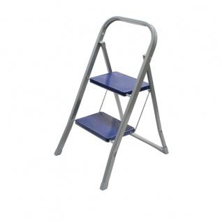 Klapptritt mit 2 Stufen Trittleiter Sicherheitsbügel Klappsicherung bis 150 kg