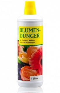 Blumendünger für Zimmer-, Balkon- und Gartenpflanzen NPK 4+2+2 flüssig, 1 Liter