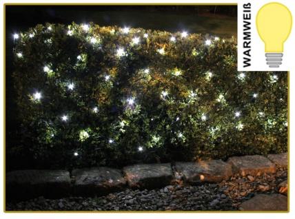 LED Lichternetz 160 LED´s warmweiß Lichtervorhang In-& Outdoor 200x100cm IP44 - Vorschau 2