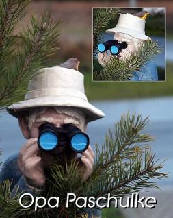 Spanner mit Fernglas Opa Paschulke Gartenfigur Gartendekoration