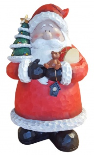 Dekofigur Weihnachtsmann mit Tannenbaum Weihnachtsdeko Weihnachtsfigur Nikolaus