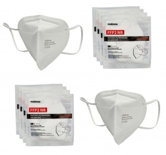 10 Masken FFP2 CE0598 einzeln verpackt EN149:2001+A1:2009 Mund Nasen Bedeckung