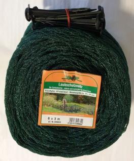 STAR Laubschutznetz Vogelschutznetz grün 6 x 3 m Erdspieße Teichnetz 20 x 20 mm