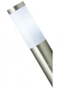 Edelstahl Wandlampe mit LED 9 Watt Außenlampe Fackel Hoflampe Wand-Außenleuchte
