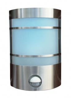 Edelstahl Wand-Außenleuchte mit IF-Bewegungsmelder Echtglas Wandlampe Hoflampe