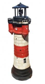 Leuchtturm Roter Sand m. Solar Beleuchtung Rundum Leuchtfeuer 50cm Maritime Deko