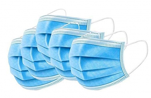 10 Stück OP-Maske Mundschutz Maske 3-lagig Einweg Mund-Nasen-Schutz - Vorschau 2