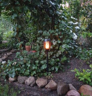 Solarfackeln 2 Stück Gartenfackeln mit flackerndem Flammeneffekt Solarleuchte - Vorschau 3