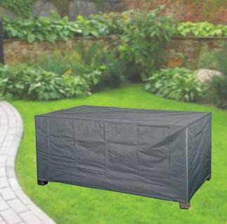 Komfort Schutzhülle für rechteckige Gartentische 170x100x71 cm anthrazit
