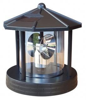 Ersatzkopf Solar f. Deko Leuchtturm Rundum Leuchtfeuer Solarkopf 360° 16, 5cm NEU