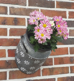 1/2 Zinkkanne Blumentopf hängend originelles Pflanzgefäß Gartendeko Pflanzkanne
