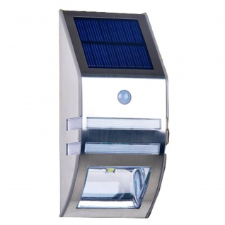 LED Solar Strahler mit IF-Bewegungsmelder Spot Solarleuchte Wandleuchte