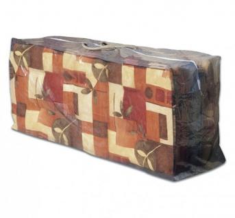 Schutzhülle für Auflagen, Tragetasche für Sitzkissen, 125x32x50 cm, Hochlehner