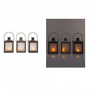 Laterne Teelichthalter Hirsch-Design im 3er Set Kerzenhalter Windlicht Weihnacht