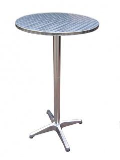 Bistrotisch 2 in 1 Partytisch höhenverstellbar klappbar Stehtisch Esstisch