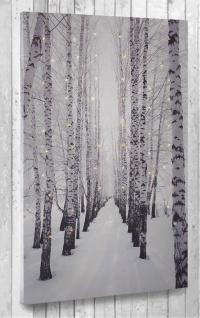 Leinwandbild XL mit LED-Beleuchtung 60 x 40 cm Wandbild Birkenallee 60 Lichter - Vorschau 2