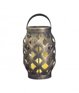LED Deko Korb-Laterne Flammeneffekt Licht Timer Indoor Outdoor batteriebetrieben