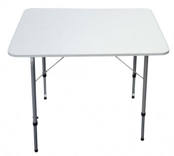 Campingtisch 80x60 cm, höhenverstellbar, Klapptisch, Gartentisch klappbar, Tisch