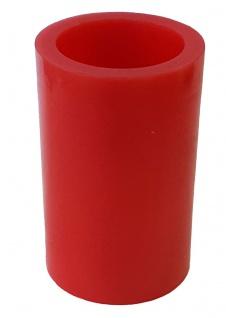 LED-Echtwachskerze LED-Kerze Flackereffekt rot 5 x 7, 5 cm mit Batterie