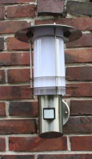 Edelstahl Wandlampe Außenleuchte mit Bewegungsmelder und LED-Leuchtmittel 7 Watt