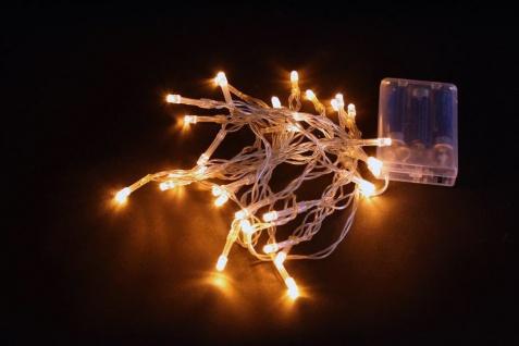 LED-Lichterkette mit je 20 Leuchten 8er Set warmweisse LED´s batteriebetrieben