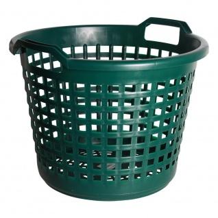 Universalkorb Kunststoff rund 25 kg grün, Garten Laub Ernte Obst Kartoffel Korb