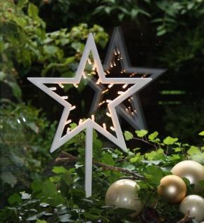LED Deko Stern mit 20 LED´s Weihnachtsdeko Fensterdeko 38 cm batteriebetrieben