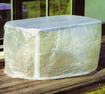 Möbelschutzhülle Schutzhülle Hülle Abdeckung für ovale Tische PE-Bändchengewebe