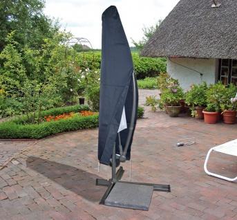 Schutzhülle für Ampelschirm Sonnenschirm Schutzhaube Hülle anthrazit Ø 3m