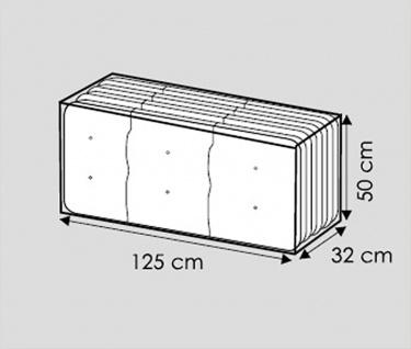 Komfort Schutzhülle für Hochlehner Auflagen 125x32x50cm Tragetasche f.Sitzkissen - Vorschau 3